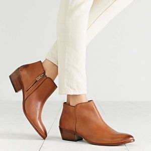 Sam Edelman Petty Boot in Brown Leather